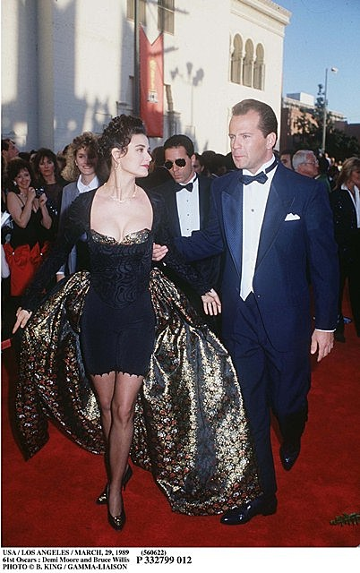 Demi Moore and Bruce Willis arrive at the Oscars