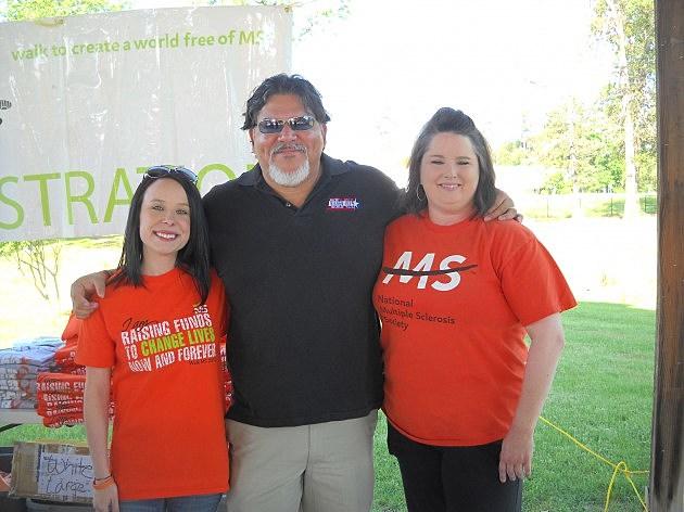 Mario Garcia with organizers at Walk MS Texarkana 2012