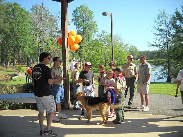 Boy Scouts at Walk MS Texarkana 2012