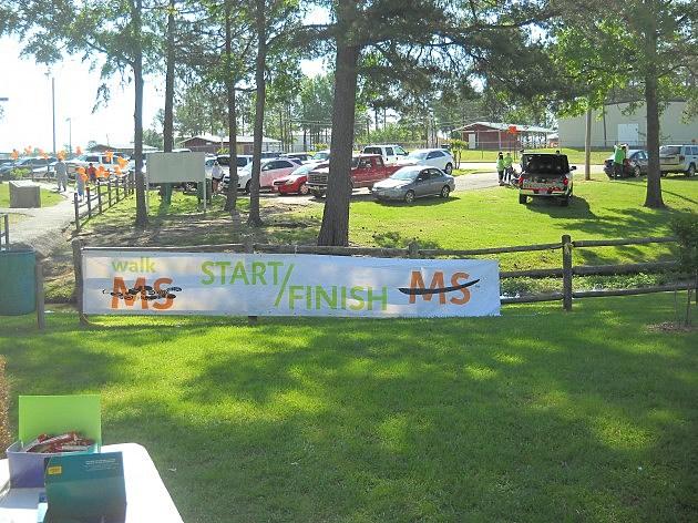 Walk MS Texarkana start/finish line banner