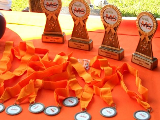 Prizes awarded at Walk MS Texarkana 2012