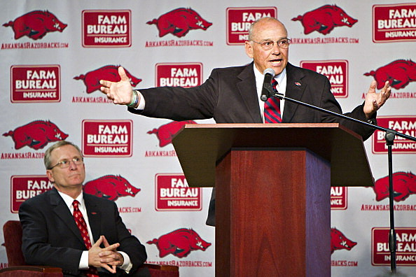 Arkansas Razorback Coach John L. Smith