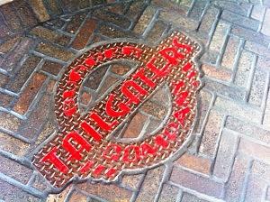 Tailgater's floor sign