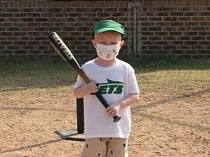Joey Price up at bat