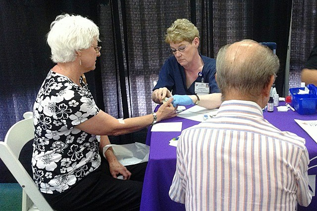 Christus St. Michael Health System screenings at Senior Expo 2012