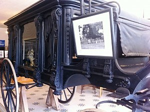 An old hearse at Two Rivers Museum in Ashdown, Ark.