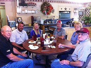David and Keisha Mores and crew at Sue's Diner