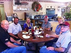 David and Keisha Mores and crew at Sue's Diner