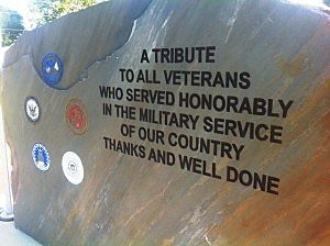 Veterans Memorial Park monument in Fouke, Ark.