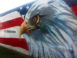 Veterans mural in Fouke, Ark.