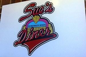Sue's Diner sign