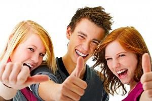 Three young teens