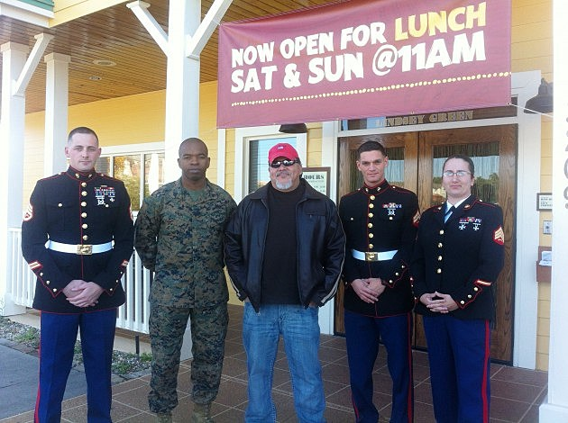 Mario Garcia with the U.S.Marines Reserves