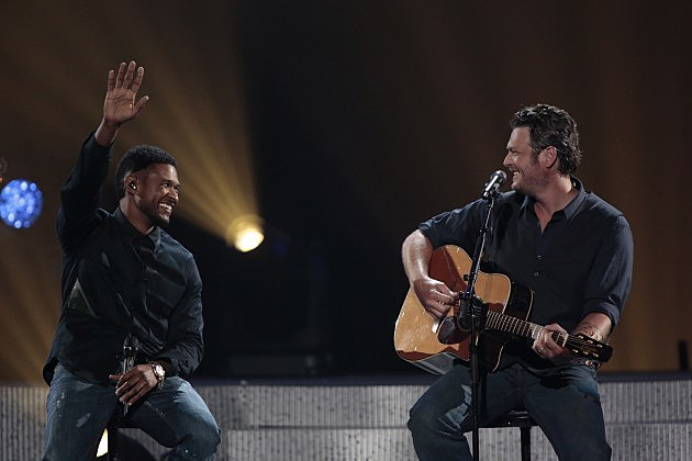 Usher and Blake Shelton