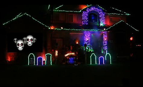 My favorite halloween light show displays video - Halloween laser light show ...