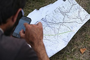 Map and Smart Phone