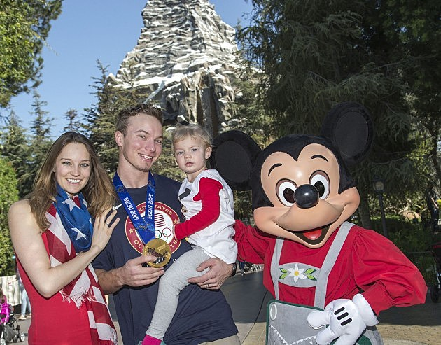 Olympic Gold Medalist David Wise And Family Visit Disneyland