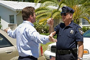 Drunk Driver Takes Sobriety Test - Lisa F. Young/ThinkStock