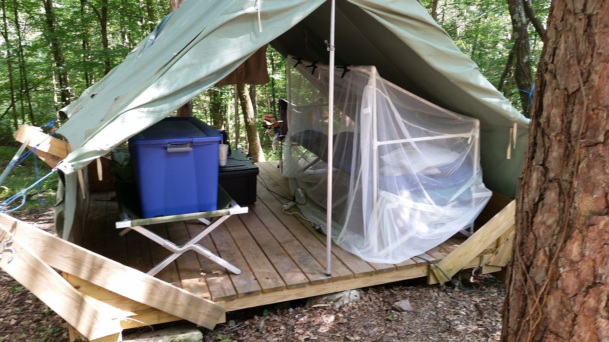 & UPDATE: Mosquito Net Bed Frame For Camp - Jim Weaver DIY
