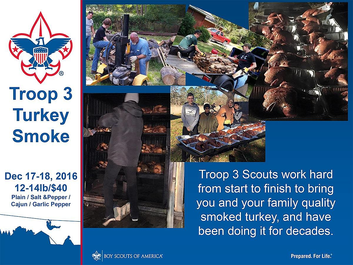 Troop 3 Turkey Smoke 2016