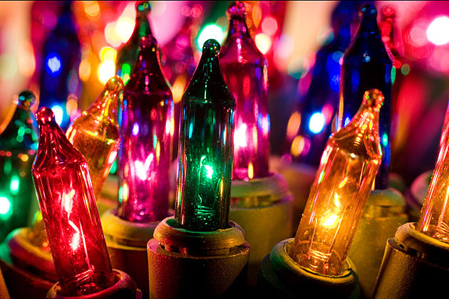 Closeup Macro Christmas Lights