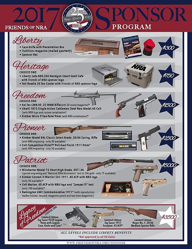 Friends of NRA - Sponsor Packages