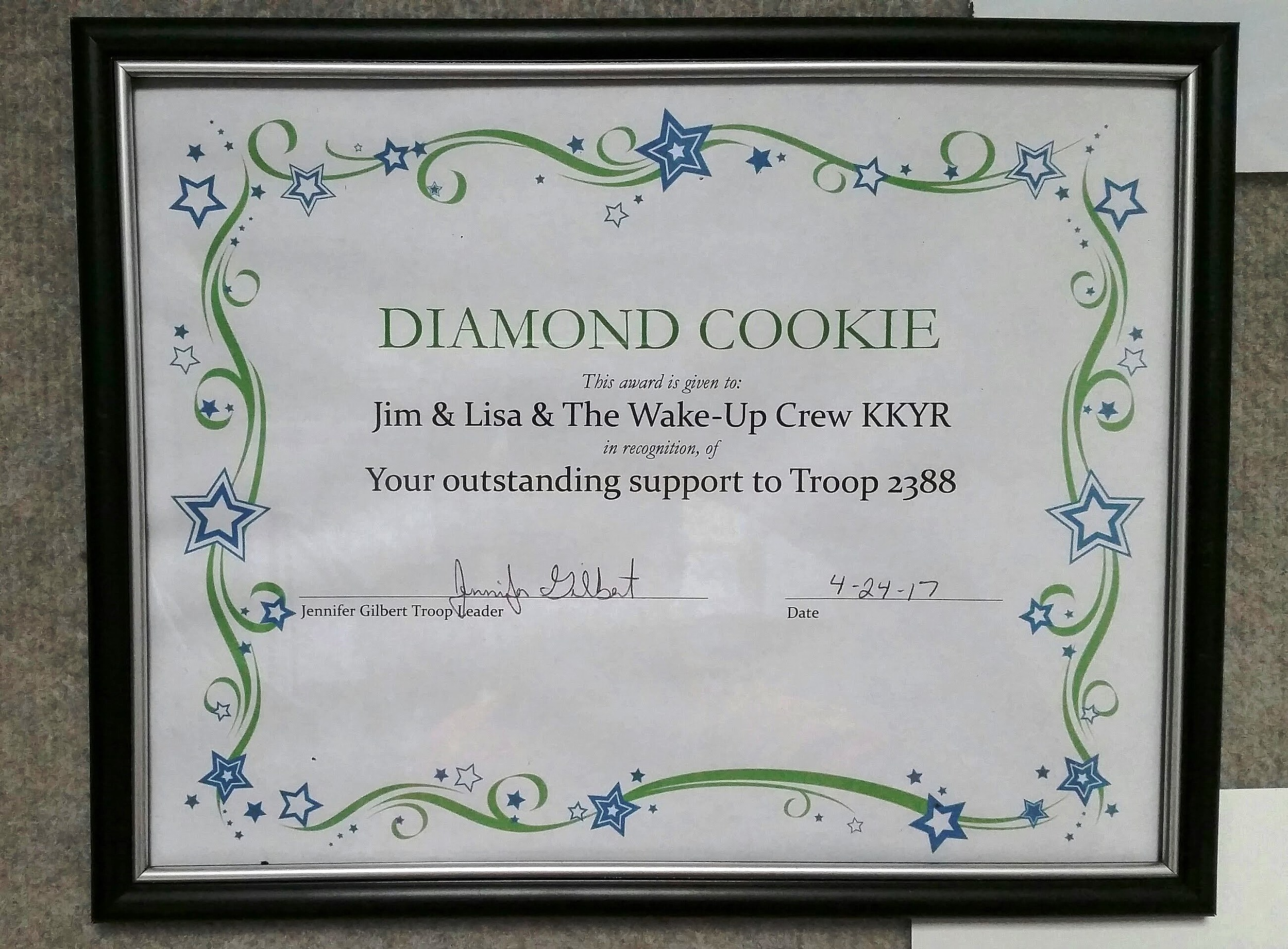 Diamond Cookie Award