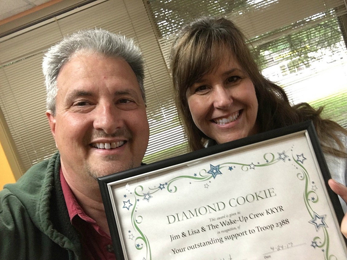 Jim & Lisa with Diamond Cookie Award