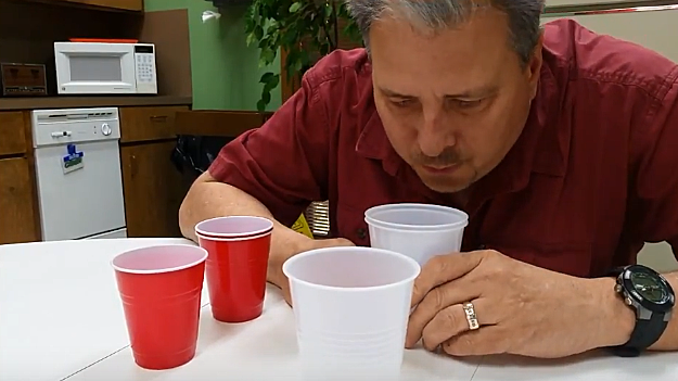 """Try This"" on Kicker 102.5 - Cup Blowing Challenge - YouTube"