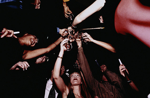 People Toasting at a Party